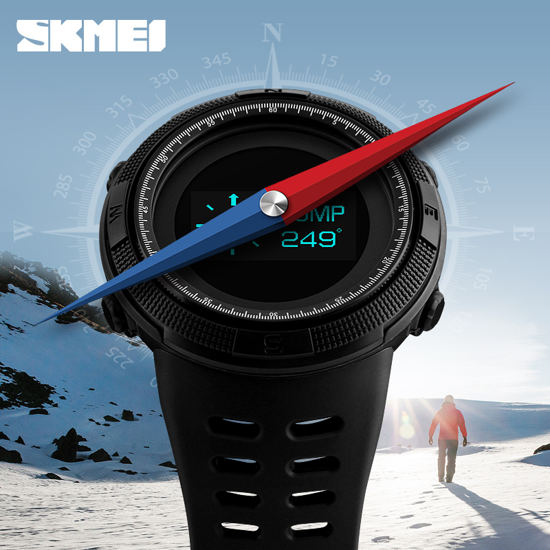 Mens Sports Watches Pedometer Calorie Digital Watch Compass Thermometer Chrono Men Wrist Watch SKMEI Brand Outdoor reloj hombre sports watches men skmei brand outdoor men s digital watch hours altimeter countdown pressure compass thermometer reloj hombre