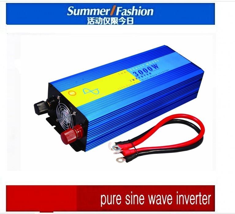 New!! 3000W DC12V/24V/48V Pure Sine Wave Power Inverter with Digital Display, Wind Solar Off Grid System Power Inverters