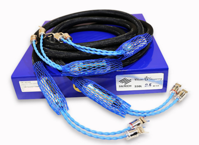 Free shipping Siltech Classic Anniversary 550L speaker cable wire Rhodium plated Y spade connector