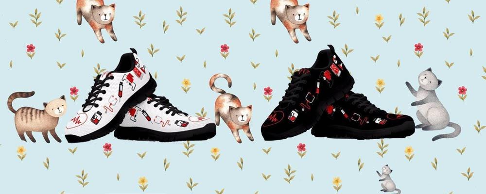 nurse heart sneakers