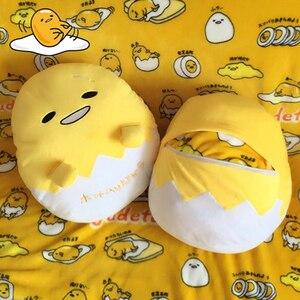 Image 1 - Kawaii ogrzewacz dłoni Gudetama leniwy jajko pluszowa poduszka koc obsadzone jajko Jun żółtko brat zabawka lalka śliczna miękka poduszka