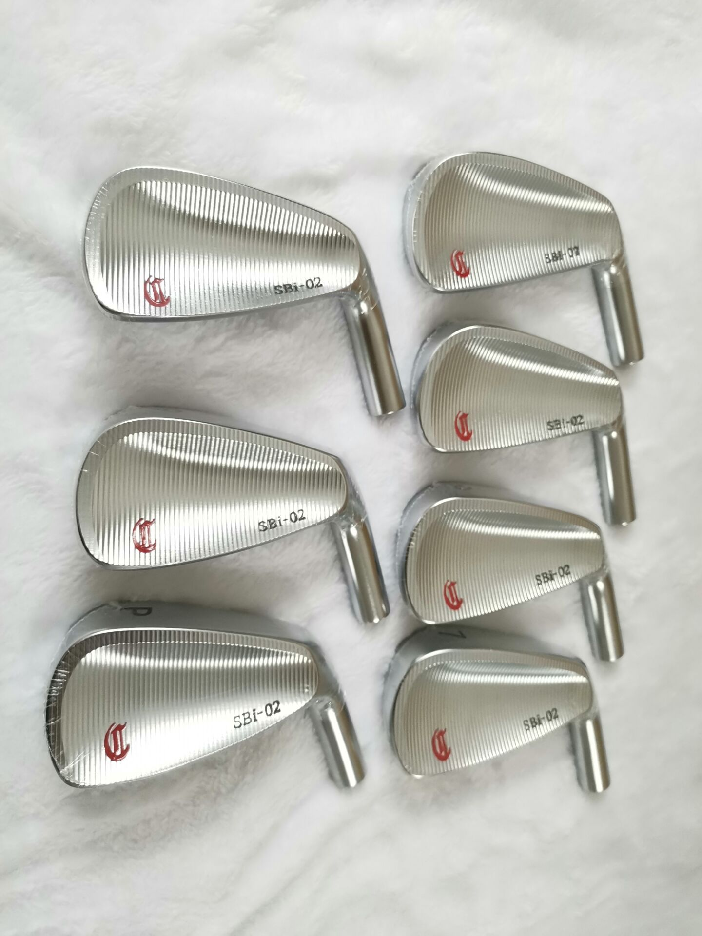 CRAZY SBi-02 Iron Set Silver CRAZY Golf Forged Irons CRAZY Golf Clubs 4-9P Steel/Graphite Shaft