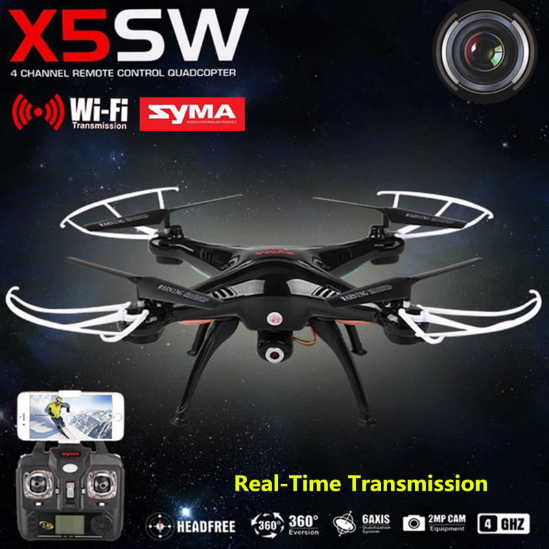 SYMA X5SW RC Helicopter Aircraft FPV Mini Drone with Camera 4-Channel Mobile Wifi Real-Time Transmission Toys USB Quadcopter jjr c jjrc h43wh h43 selfie elfie wifi fpv with hd camera altitude hold headless mode foldable arm rc quadcopter drone h37 mini