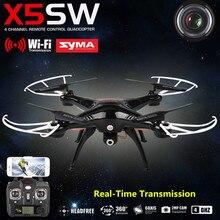 SYMA X5SW 4-kanałowy RC Samoloty FPV Mini Drone Helikopter z Kamerą Mobilna Wifi W Czasie Rzeczywistym Transmisji Zabawki USB Quadcopter
