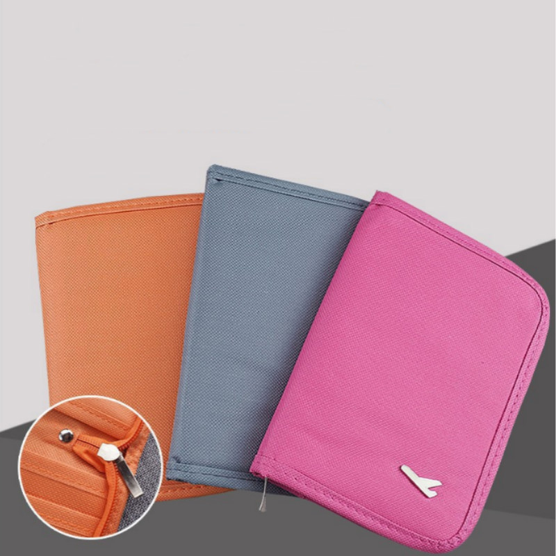 Travel Passport Bag Multifunction Document Bag ID Credit Card Wallet Cash Holder Travel Accessories Storage Bag