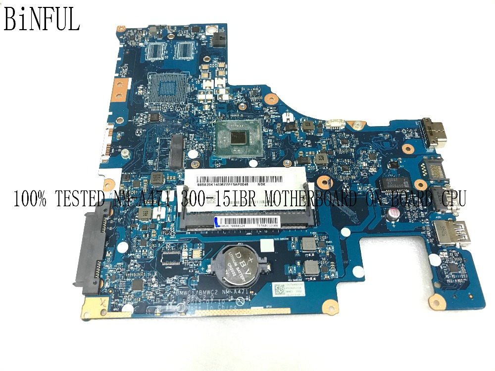 BiNFUL SUPER TESTED BMWC1/BMWC2 NM-A471 MAINBOARD MOTHERBOARD FOR LENOVO 300-15IBR NOTEBOOK PC PROCESSOR INCLUDED
