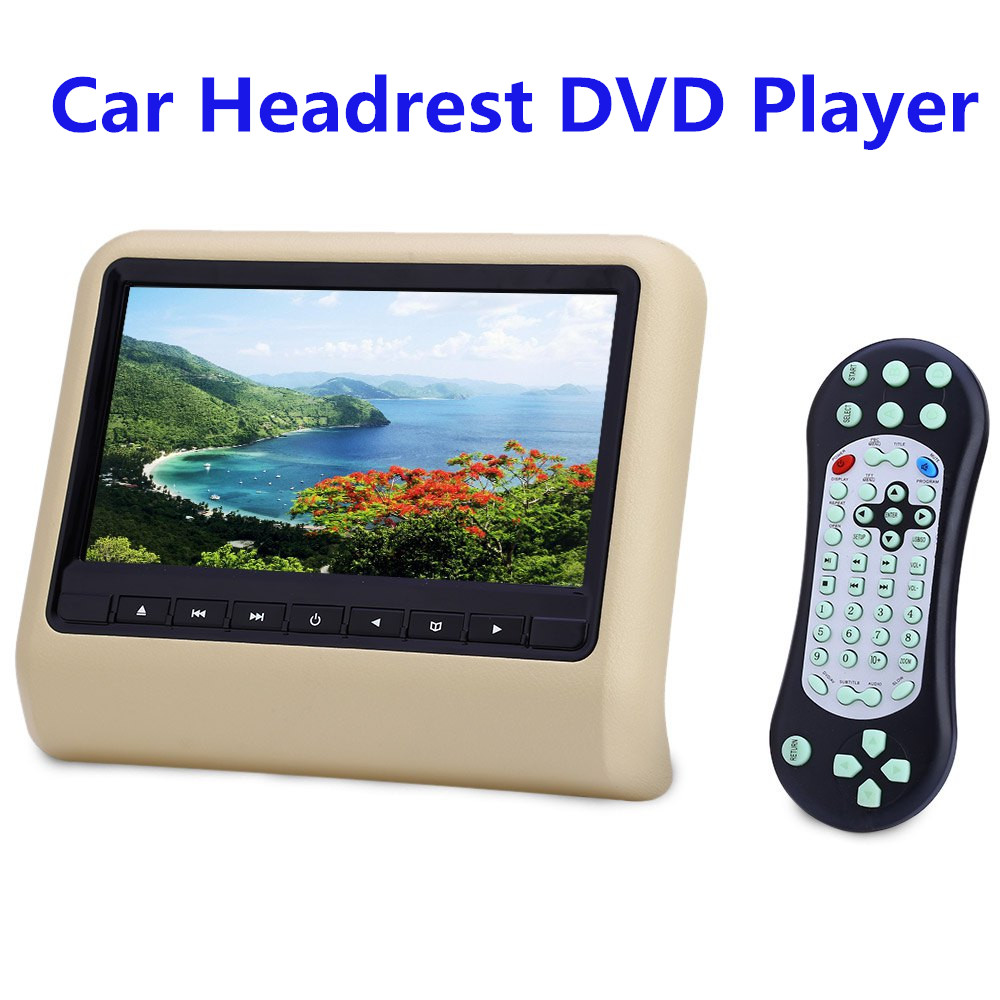 Car dvd 9 0 inch car pillow dvd player dual headrest full hd 800 x 480 lcd