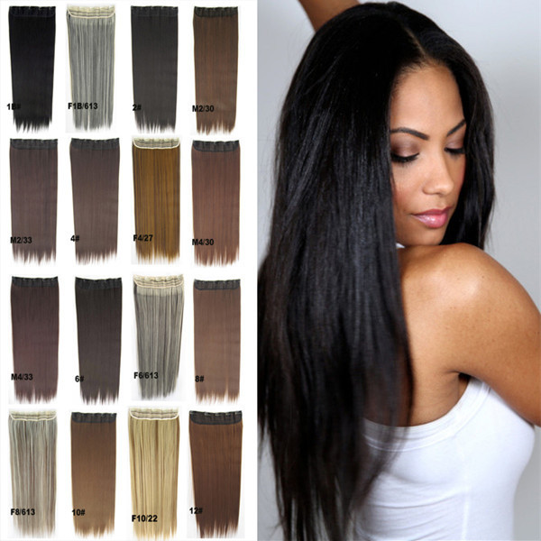 1pc 23inch 130g Long Synthetic Clip In Hair Extensions High