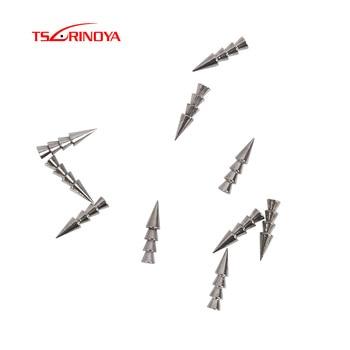 Insertos de plomo de tungsteno TSURINOYA, pesa de plomo de uña, cebos blandos de inserción, aparejo Neko, cebo falso de tungsteno, 2 piezas