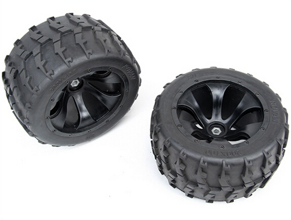 Monster Truck Baja Wheel Tires 2pcs tyres wheel For 1/5 FG RC CARS Rovan Parts vitek vt 2150 w