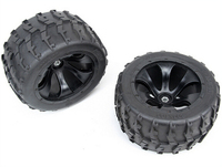 Monster Truck Baja Wheel Tires 2pcs tyres wheel For 1/5 FG RC CARS Rovan Parts