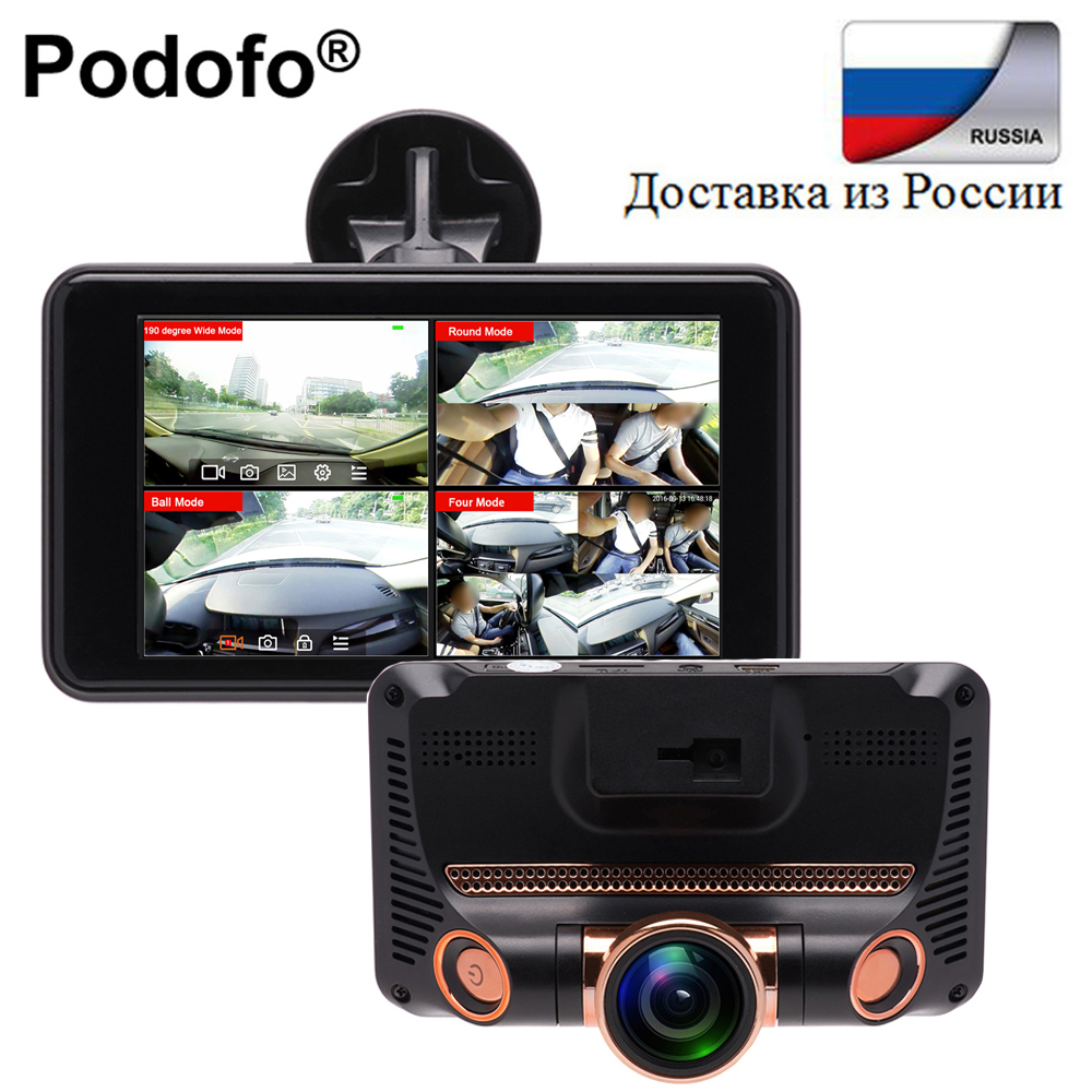 Podofo 4.0  Touch Dash Cam Car DVR Camera Full HD 1080P Auto Video Recorder Fisheye Lens Loop Recoridng G-sensor Registrator аккумуляторная воздуходувка greenworks 40v g40bl 24107