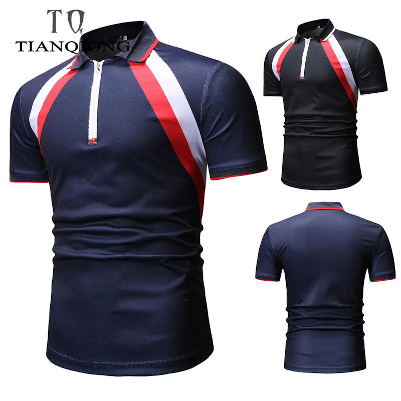 2019 New Fashion Brands Summer   Polo   Shirt Men Casual Solid Color Slim Fit   Polo   Shirts Short Sleeve Men Breathab Men Clothes
