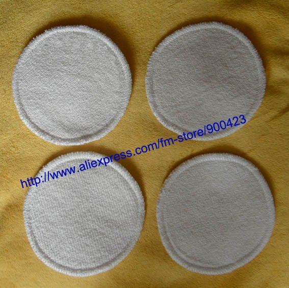 120pcs/lot Washable Hemp+cotton Bra Pads Breast Pad Nusring Pads