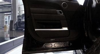 ل اند روفر رينج روفر فوغ تصميم سيارة abs الكروم غطاء باب السيارة الديكور شرائط تقليم الداخلية النفخ اكسسوارات 4 قطع