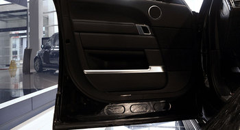 랜드 로버 레인지 로버 보그 카 스타일링 abs 크롬 자동차 도어 커버 장식 트림 스트립 인테리어 몰딩 액세서리 4 pcs