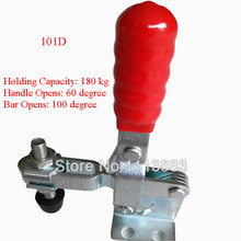 5PCS 180KG 397LBS Short U Bar Flanged Base Straight Handle Vertical Type Toggle Clamp 101D