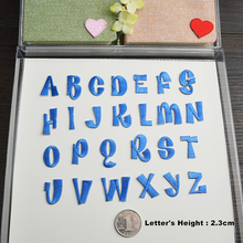 Blue English Letters alphabet embroidered patches applique for clothes shoes bags application iron on patches colorful
