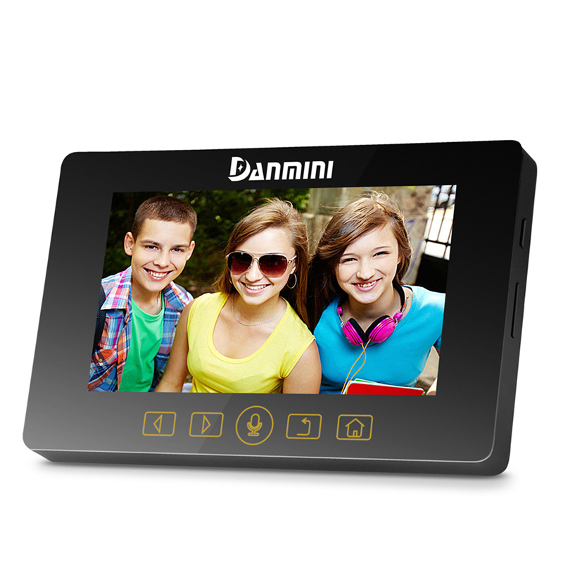 DANMINI 4.3 Door Phone Intercom Video Doorbell 160 Degree Peephole Viewer Intercom Doorbell 3.0MP Doorphone Camera Night Vision