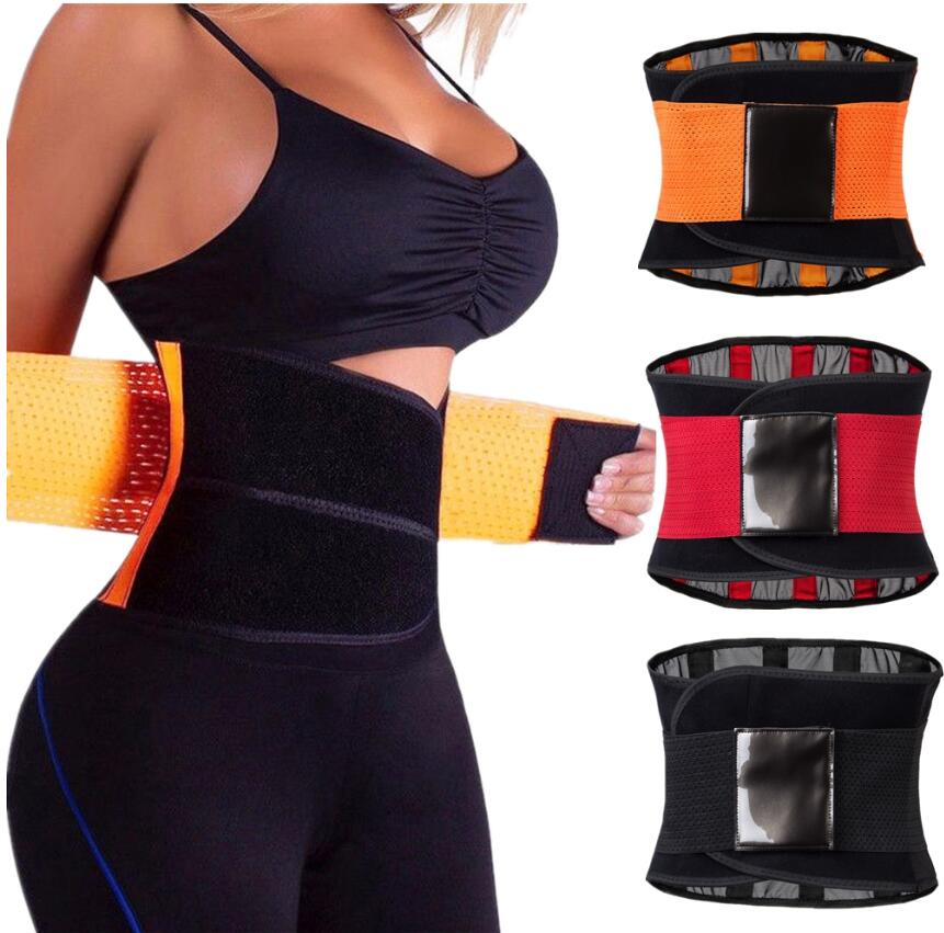 New Women's Waist Trainer and Trimmer Belt Workout Body Shaper Waistband for Hourglass Stripe Corsets and Bustiers Corselet