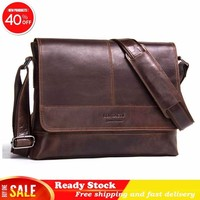 new fashion Luxury brand Genuine Leather Man Single Shoulder Package Diagonal Restore Ancient Ways Crazy Horse Male Bag best hot