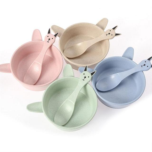Healthy Wheat Straw Bowl and Spoon Set Anti-scald Unbreakable Cute Tableware for Children Kitchen  sc 1 st  AliExpress.com & Healthy Wheat Straw Bowl and Spoon Set Anti scald Unbreakable Cute ...