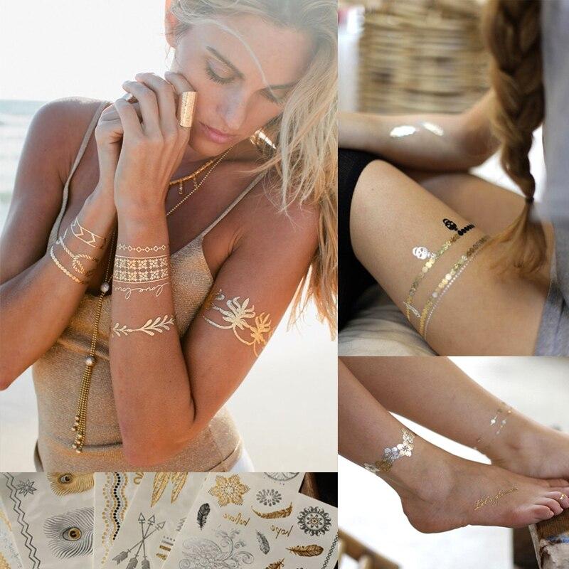 Temporary-Tattoo-Sticker-Bohemian-Hippie-Fake-Tattoo-Art-Music-Festival-Party-Wedding-Gold-Glitter-Tattoos-on-Women-Waterproof (1)