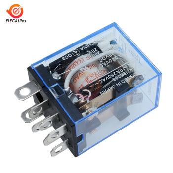 AC 220V DC 12V 24V 10A LY2NJ Coil Power Relay Car Auto Electronic Mini Micro Electromagnetic Relay switch 8Pin DPDT Omron Module недорого