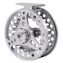 PROBEROS Fly Fishing Wheel 3/4-5/6-7/8 WT Fly Fishing Reel Aluminum Fly Reel CNC Machine Cut Large Arbor Die Casting(Hong Kong,China)