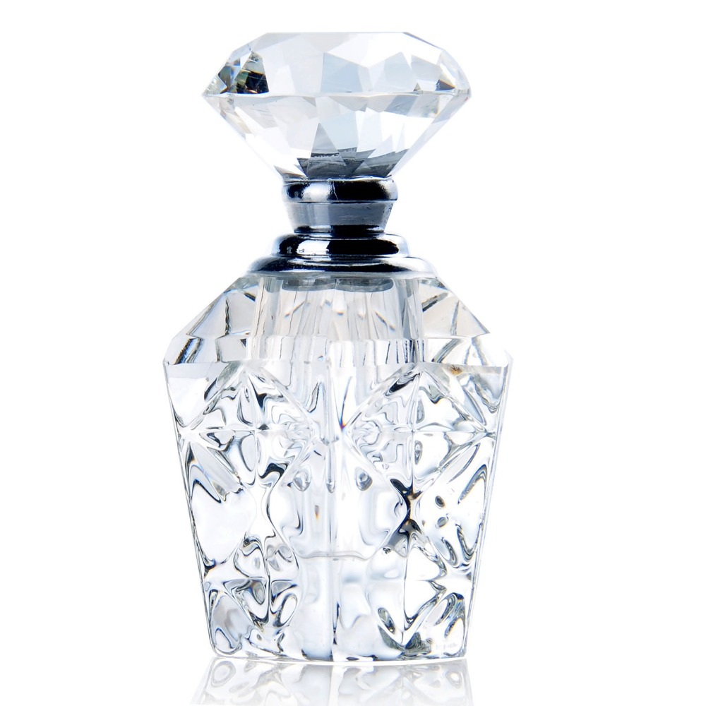 H&D 4ML Clear Vintage Crystal Perfume Bottle Empty Mini Refillable Bottle Home Wedding Decor Travelling Gift For Women