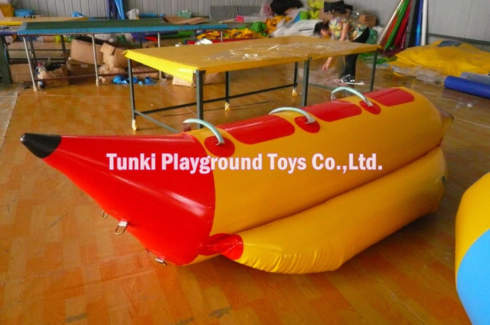 3 Seats inflatable banana boat and water park sport toys for sale