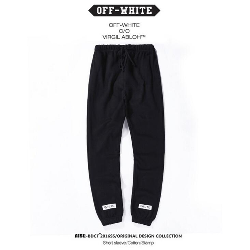 c7aa085f9dc2 OFF White C o Virgil Abloh 16SS Men Sweatpants Male Casual Sweatpants  Trousers Striped Jogger Pants Hip Hop Off White Sweatpants-in Sweatpants  from Men s ...
