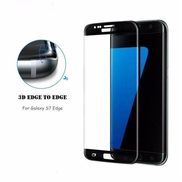 S7 Край защитная пленка 3D полное покрытие 100% края край LINNO Закаленное Стекло-Экран Протектор Для Samsung Galaxy S7 край