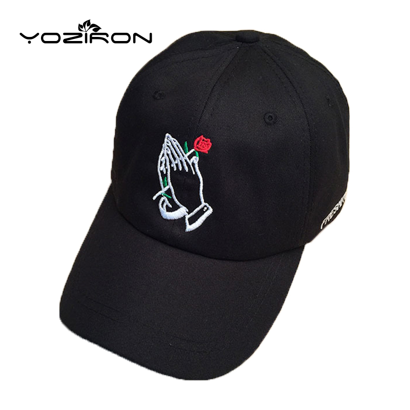 Fashion Cotton Rose In Hand Snapback Baseball Caps For Men Women Adjustable Casual Hat Adult Fitted