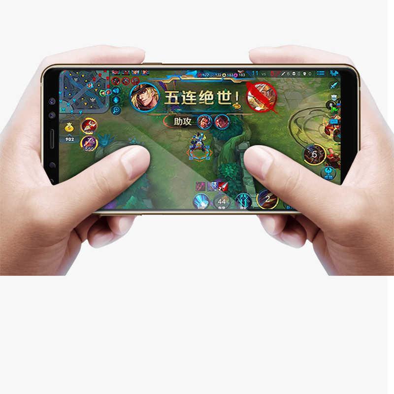 واقي للشاشة لهاتف سامسونج جالاكسي J2 J4 J6 2018 A8 2018 A530F غطاء كامل من الزجاج المقسى لهاتف A8 Plus 2018 A730F