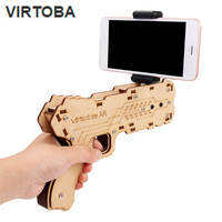 Virtoba AR DIY Gun Shaped Augmented Reality AR Toy Gun With Cell Phone Stand Holder For