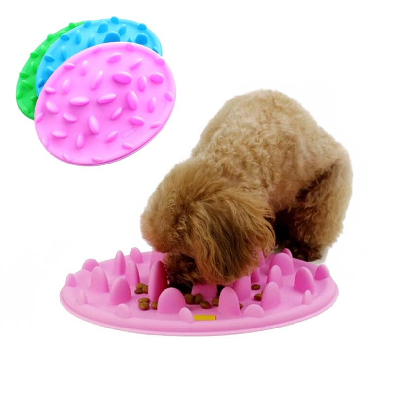 Pet Slow Eating Dog Bowl Slow Feeder Dog Food Bowl Hard Silicone Dog Slow Feeder Cat Pet Feeder Anti Gulping Feeder Bowl