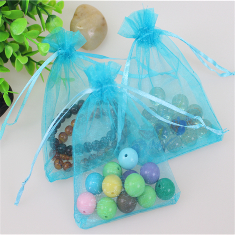 Wholesale 100pcs/lot 13*18cm Organza Jewellery Gift Pouches Favor Wedding Packaging Drawstring Chritmas Organza Bag