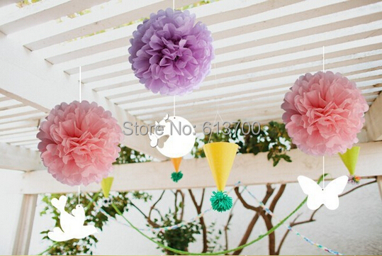 50 Pcs 14 35CM Pom Poms Ball Tissue Paper Pom Poms Bouquet Decorative Flowers Weddings Birthday