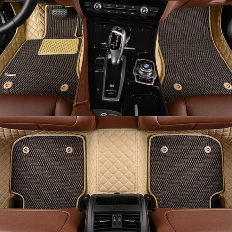 Custom fit voiture tapis de sol pour Toyota Land Cruiser 200 Prado150 120 Rav4 Corolla Avalon Highlander Camry Couronne car styling doublures