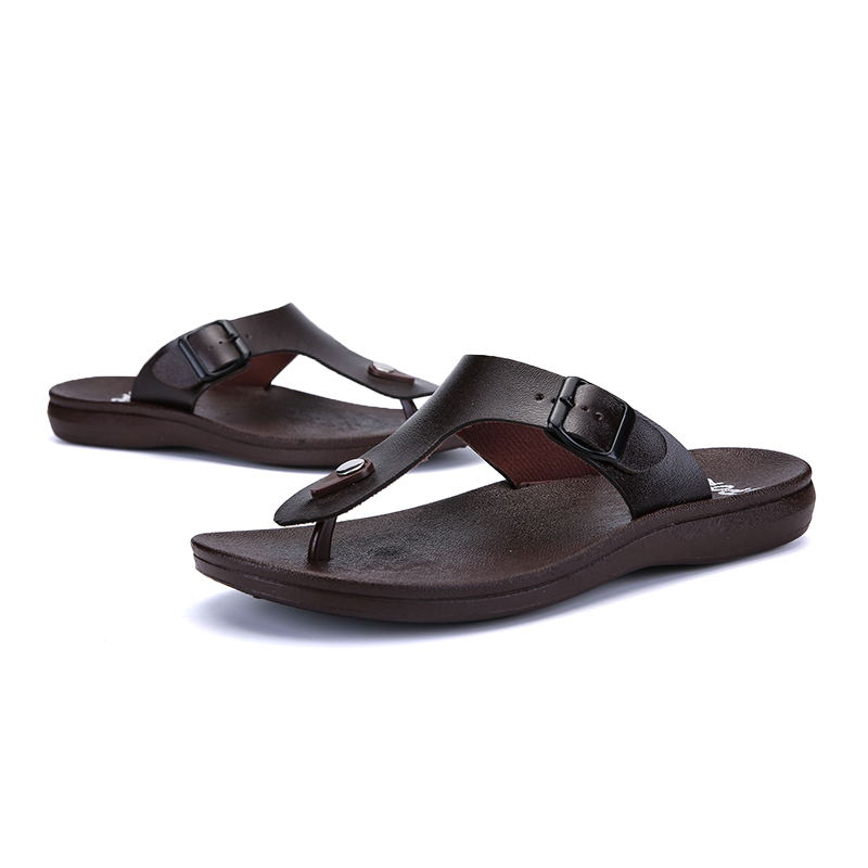 MIUBU Brand New Arrival Classic Summer Men Flip Flops Non slide Male Slippers Comfortable Breathable Beach Shoes Hot Sales in Flip Flops from Shoes