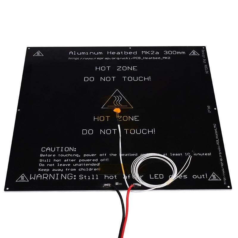 3D printer MK2A 300*300*3.0mm RepRap RAMPS 1.4 Aluminum Heatbed Hot Plate For Mendel For 3D Printer MK2B 2017 mk2a 300 300 3 0mm reprap ramps 1 4 pcb aluminum heatbed hot plate for mendel for 3d printer mk2b