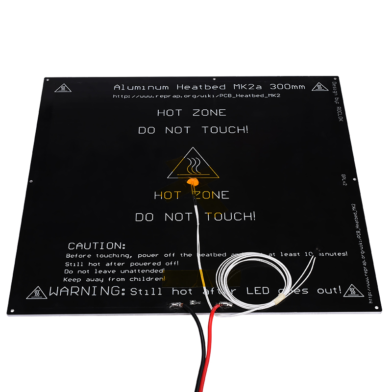Imprimante 3D MK2A 300*300*3.0mm RepRap rampes 1.4 plaque chauffante en aluminium pour Mendel pour imprimante 3D MK2B