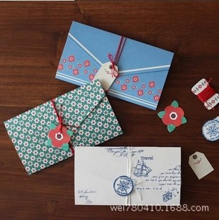 4 pcs lot vintage floral folding greeting card thank you card