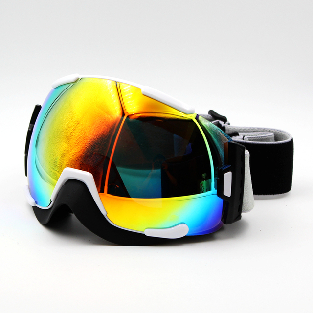New Design Multi Lens White Frame Brand New Ski Goggles Eyewear Mask  Glasses Skiing Men Women Snow Snowboard Goggles 29d5a2f33