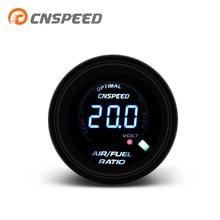 """CNSPEED 2 """"52 мм 20 светодиодный цифровой датчик соотношения топлива для автомобиля 12V Racing Воздушный счетчик топлива индикатор Дымчатая линза AFR ..."""