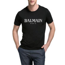 2018 New BALMAIN PARIS Letter Printed S hirt Brand Unisex Summer Cotton T  Shirt Women&Men's Fashion