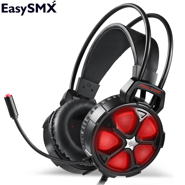 US $19 99 30% OFF|Gaming Headset EasySMX COOL 2000 PC Gaming Headphones  with Microphone Noise Cancelling Stereo Sound for PC Gamers-in