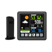 Digital Thermometer Hygrometer Weather Station Wireless Sensor LCD Weather Forecast Thermoregulator Alarm Clock Indoor Outdoor