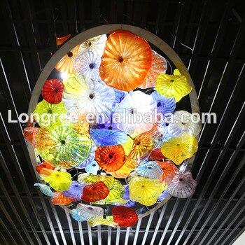 Toptan Fiyat sanat dekoru El Üflemeli Cam Kaplama Murano Cam Duvar Dekor Tabaklar